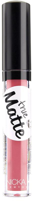 Nicka K NY True Matte Lip Color губная помада, 3,5 г, оттенок ORIENTAL PINK017398Приятная кремовая текстура, обеспечивающая устойчивое покрытие и благородную матовость. Матовый блеск для губ с аппликатором наносится в 1 или 2 слоя в зависимости от того, насколько яркое покрытие вы хотите получить.