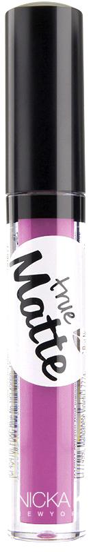 Nicka K NY True Matte Lip Color губная помада, 3,5 г, оттенок HOPBUSH017338Приятная кремовая текстура, обеспечивающая устойчивое покрытие и благородную матовость. Матовый блеск для губ с аппликатором наносится в 1 или 2 слоя в зависимости от того, насколько яркое покрытие вы хотите получить.