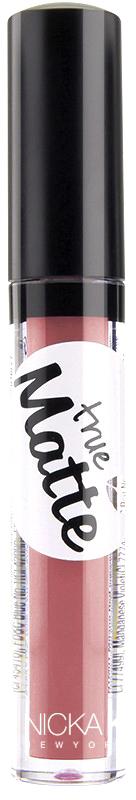 Nicka K NY True Matte Lip Color губная помада, 3,5 г, оттенок SANTA FE017398Приятная кремовая текстура, обеспечивающая устойчивое покрытие и благородную матовость. Матовый блеск для губ с аппликатором наносится в 1 или 2 слоя в зависимости от того, насколько яркое покрытие вы хотите получить.Какая губная помада лучше. Статья OZON Гид