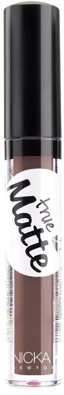 Nicka K NY True Matte Lip Color губная помада, 3,5 г, оттенок MILLBROOK017482Приятная кремовая текстура, обеспечивающая устойчивое покрытие и благородную матовость. Матовый блеск для губ с аппликатором наносится в 1 или 2 слоя в зависимости от того, насколько яркое покрытие вы хотите получить.Какая губная помада лучше. Статья OZON Гид