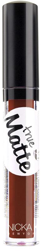 Nicka K NY True Matte Lip Color губная помада, 3,5 г, оттенок COCOA BEAN017427Приятная кремовая текстура, обеспечивающая устойчивое покрытие и благородную матовость. Матовый блеск для губ с аппликатором наносится в 1 или 2 слоя в зависимости от того, насколько яркое покрытие вы хотите получить.Какая губная помада лучше. Статья OZON Гид