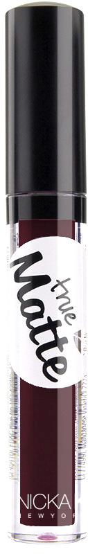 Nicka K NY True Matte Lip Color губная помада, 3,5 г, оттенок AUBERGINE017482Приятная кремовая текстура, обеспечивающая устойчивое покрытие и благородную матовость. Матовый блеск для губ с аппликатором наносится в 1 или 2 слоя в зависимости от того, насколько яркое покрытие вы хотите получить.Какая губная помада лучше. Статья OZON Гид