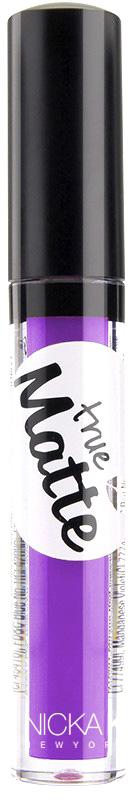 Nicka K NY True Matte Lip Color губная помада, 3,5 г, оттенок VIVID VIOLET017398Приятная кремовая текстура, обеспечивающая устойчивое покрытие и благородную матовость. Матовый блеск для губ с аппликатором наносится в 1 или 2 слоя в зависимости от того, насколько яркое покрытие вы хотите получить.