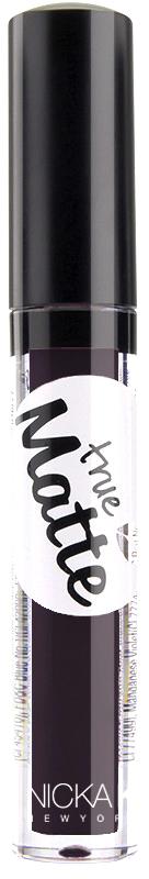 Nicka K NY True Matte Lip Color губная помада, 3,5 г, оттенок THUNDER017482Приятная кремовая текстура, обеспечивающая устойчивое покрытие и благородную матовость. Матовый блеск для губ с аппликатором наносится в 1 или 2 слоя в зависимости от того, насколько яркое покрытие вы хотите получить.Какая губная помада лучше. Статья OZON Гид