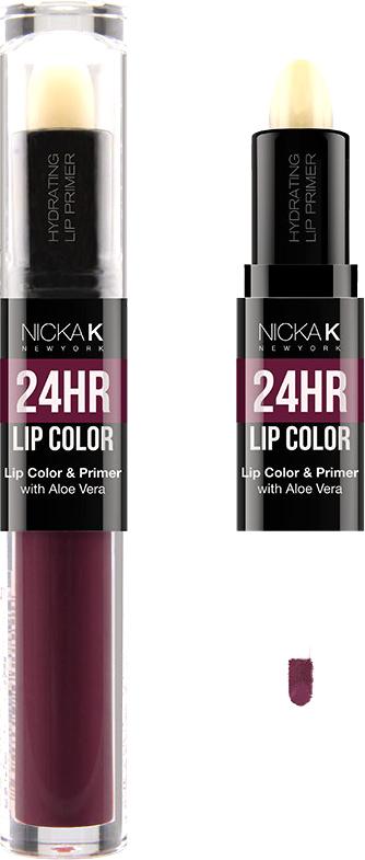 Nicka K NY 24HR Lip Color губная помада, 1,5 мл, оттенок MATTERHORN017502Богатый цвет в сочетании с увлажняющим праймером, обеспечивающим длительный матовый эффект. Праймер для губ подготавливает губы, продлевает стойкость макияжа, улучшает внешний вид последующего мэйкапа, делает цвет более чистым и насыщенным. Цветовая гамма губных помад предлагает множество сочных оттенков под любой вид повседневной одежды, которая будет дополнять и выделять любое настроение, в котором вы находитесь.Какая губная помада лучше. Статья OZON Гид