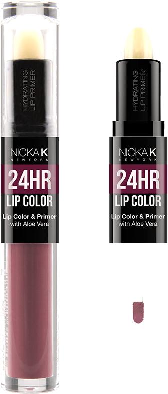 Nicka K NY 24HR Lip Color губная помада, 1,5 мл, оттенок BAZAAR017502Богатый цвет в сочетании с увлажняющим праймером, обеспечивающим длительный матовый эффект. Праймер для губ подготавливает губы, продлевает стойкость макияжа, улучшает внешний вид последующего мэйкапа, делает цвет более чистым и насыщенным. Цветовая гамма губных помад предлагает множество сочных оттенков под любой вид повседневной одежды, которая будет дополнять и выделять любое настроение, в котором вы находитесь.Какая губная помада лучше. Статья OZON Гид