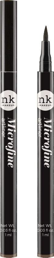 Nicka K NY Microfine Artliner маркер для глаз, 1 мл, оттенок NKA02 DARK BROWN017374Имеет удобный аппликатор, который позволяет легко создавать как выразительные стрелки, так и естественный контур глаз.