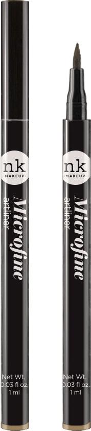 Nicka K NY Microfine Artliner маркер для глаз, 1 мл, оттенок NKA03 BROWN017374Имеет удобный аппликатор, который позволяет легко создавать как выразительные стрелки, так и естественный контур глаз.