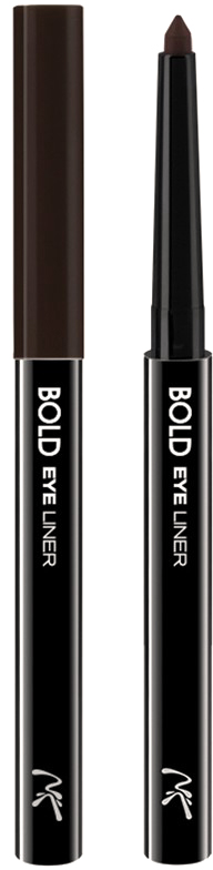 Nicka K NY Bold Eye Liner подводка для глаз, 0,56 г, оттенок AA063 BROWN карандаш для глаз absolute new york waterproof gel eye liner 79 цвет nfb79 twinkle black variant hex name 292e2a