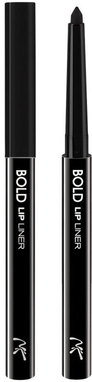 Nicka K NY Bold Lip Liner карандаш для губ, 0,56 г, оттенок AA064 BLACK017305Cкульптурирует губы и придает им визуальный объем, предотвращает размазывание помады и делает макияж губ более стойким.