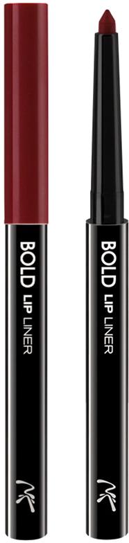 Nicka K NY Bold Lip Liner карандаш для губ, 0,56 г, оттенок AA066 RED017305Cкульптурирует губы и придает им визуальный объем, предотвращает размазывание помады и делает макияж губ более стойким.