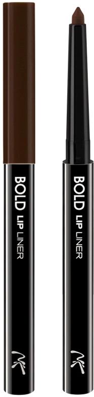 Nicka K NY Bold Lip Liner карандаш для губ, 0,56 г, оттенок AA068 BROWN017305Cкульптурирует губы и придает им визуальный объем, предотвращает размазывание помады и делает макияж губ более стойким.