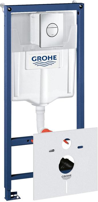 Система инсталляции для унитаза GROHE Rapid SL с панелью смыва Nova Cosmopolitan (3 режима) (38813001) цена и фото