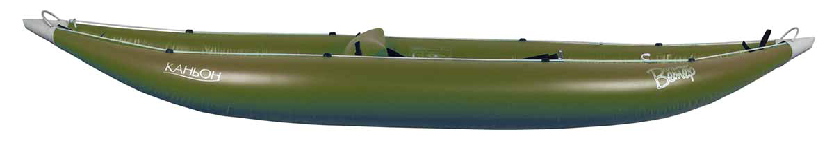 Лодка Вольный ветер Соло, цвет: зеленый