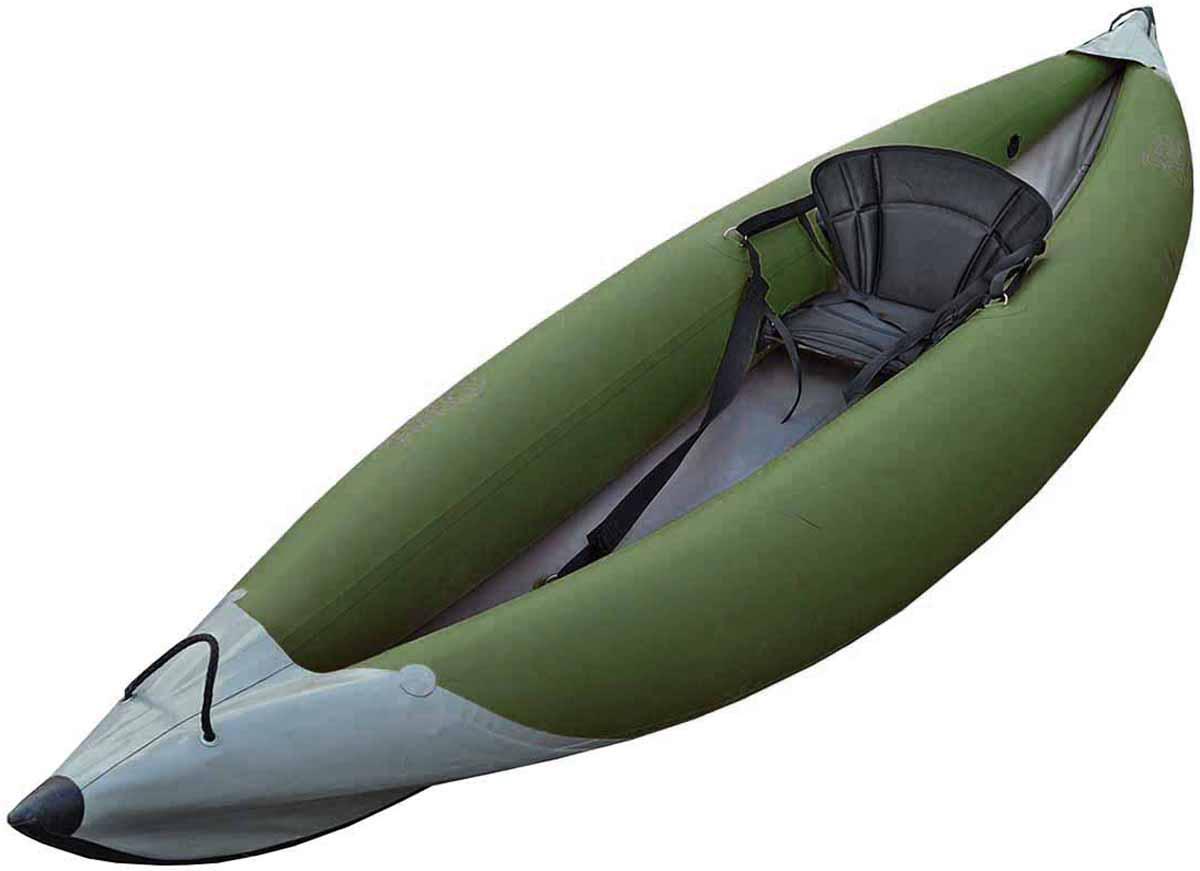 Каркасно надувная байдарка Вольный ветер Варяг 370, цвет: зеленый