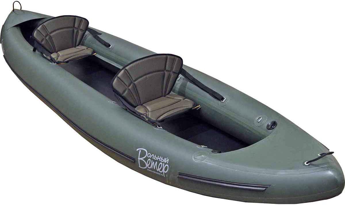 Лодка Вольный ветер Ермак 450, цвет: зеленый