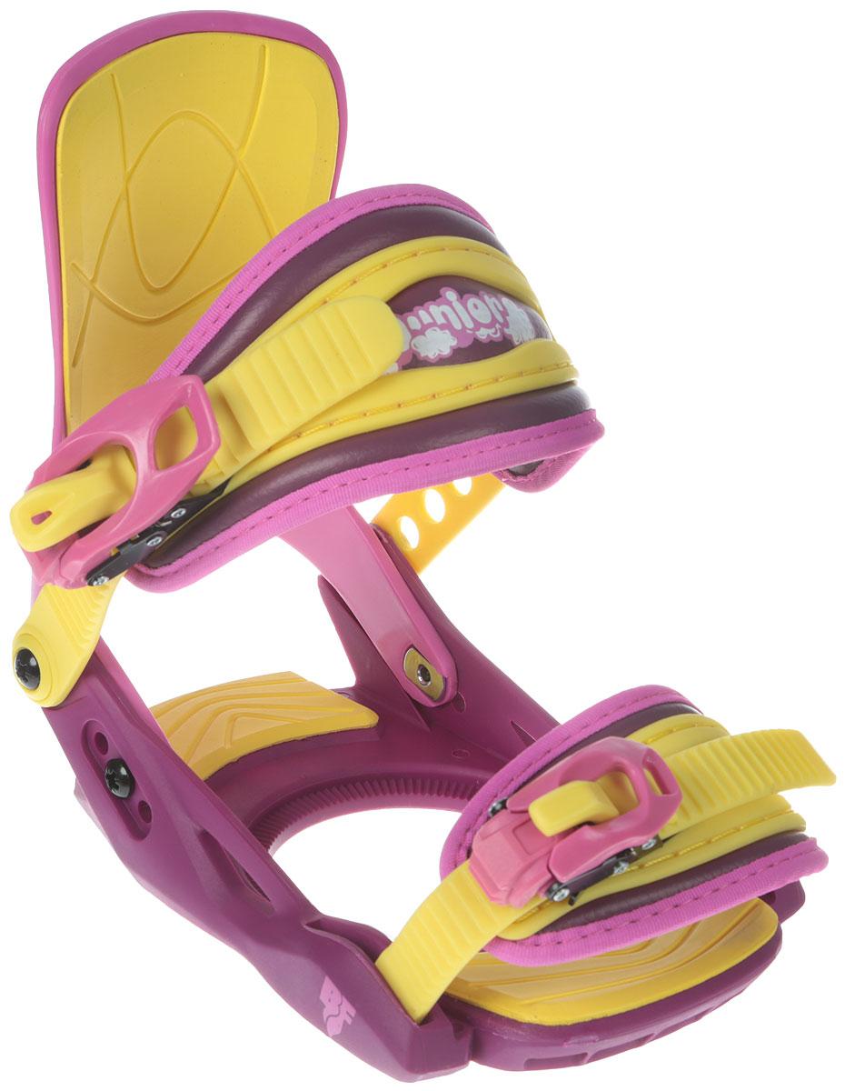 Крепления для подрастающих сноубордисток! Идеально подходит для сноуборда   BF Young Lady! Накладки из материала EVA для дополнительного комфорта.   Клипсы из морозостойкого пластика. Регулировка положения заднего стрепа для   точной настройки по ботинку. Яркий и привлекательный дизайн!      Как выбрать сноуборд. Статья OZON Гид