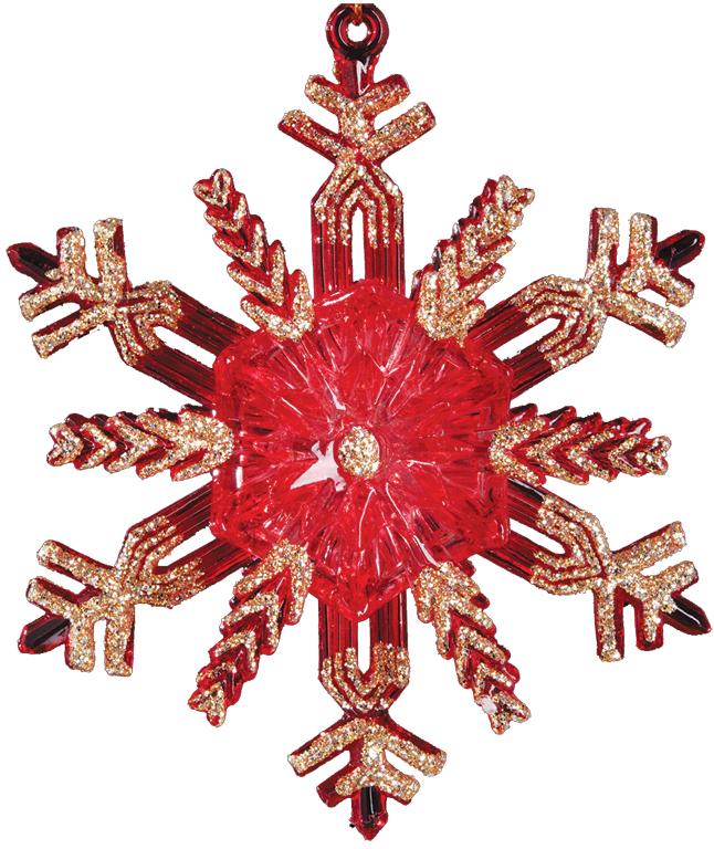 Украшение для интерьера новогоднее Erich Krause Искры света, 10,5 см36037Яркая снежинка красного цвета отличается золотыми блестками, рассыпанными по ее лучам и создающими эффект искр. Новогодние украшения всегда несут в себе волшебство икрасоту праздника. Создайте в своем доме атмосферу тепла, веселья и радости, украшая еговсей семьей.