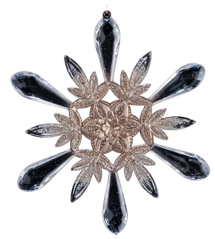 Украшение для интерьера новогоднее Erich Krause Кристальный звон, 13,5 см38156Деликатную прозрачность снежинки подчеркивают золотые вкрапления. Смотрится изысканно. Представлено две модели в ассортименте. Выбор модели невозможен. Упаковка - полибэг.