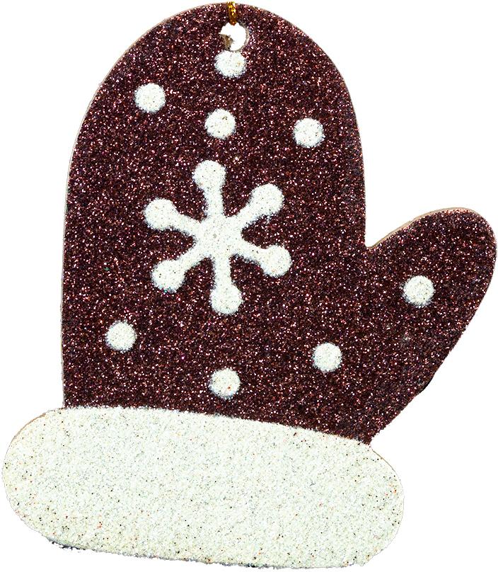 Украшение для интерьера новогоднее Erich Krause Рукавица, 9 х 7 см41047Плоское украшение в виде рукавички выполнено из прессованного картона и покрыто сверкающими блестками. Новогодние украшения всегда несут в себе волшебство и красоту праздника. Создайте в своем доме атмосферу тепла, веселья и радости, украшая его всей семьей.