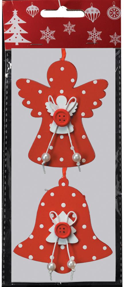 Набор новогодних украшений для интерьера Erich Krause Праздничный вечер, 8,5 см, 2 шт41317Набор состоит из двух украшений - ангела и колокольчика, выполненных из древесины и декорированных аккуратным бантиком. Новогодние украшения всегда несут в себе волшебство и красоту праздника. Создайте в своем доме атмосферу тепла, веселья и радости, украшая его всей семьей.