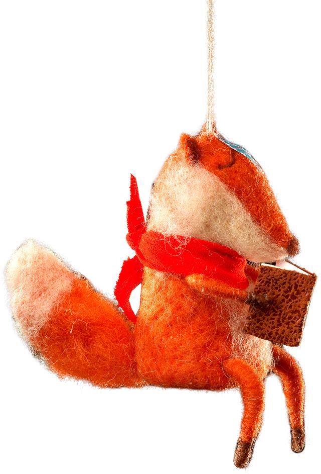 Украшение для интерьера новогоднее Erich Krause Лис-философ, 13 см42900Сувениры из валяной шерсти являются модным Трендом сезона. Лис с книгой оснащен веревочкой для подвешивания, но также будет устойчиво и убедительно смотреться на рабочем столе. Очень стильный сувенир. Новогодние украшения всегда несут в себе волшебство и красоту праздника. Создайте в своем доме атмосферу тепла, веселья и радости, украшая его всей семьей.