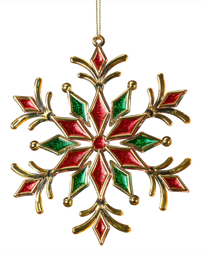 Украшение для интерьера новогоднее Erich Krause Снежинка праздничная, 13 см43458Нарядная снежинка отличается деликатным цветочным узором, а также насыщенными новогодними цветами - зеленым, красным и благородно золотым. Представлено две модели в ассортименте, находятся в групповой упаковке в равных долях. Выбор модели невозможен. Упаковка - полибэг.