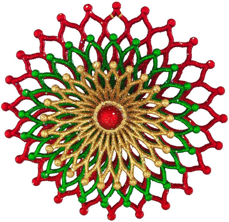 Украшение для интерьера новогоднее Erich Krause Новогодний карнавал, 13 см43680Необычное трехслойное украшение круглой формы привлекает внимание резной текстурой и красивым сочетанием цветов. Внешний вид напоминает экзотический цветок или коралл. Упаковка - полибэг.