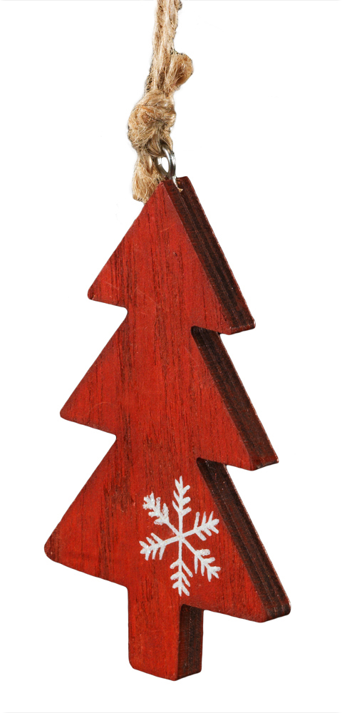 Украшение для интерьера новогоднее Erich Krause Елочка красная, 10 см43841Украшения из древесины - тренд в области праздничного декора. Легкие и безопасные в использовании, на елке они смотрятся очень необычно. Миниатюрная елочка красного цвета декорирована нарисованной белой снежинкой. Новогодние украшения всегда несут в себе волшебство и красоту праздника. Создайте в своем доме атмосферу тепла, веселья и радости, украшая его всей семьей.
