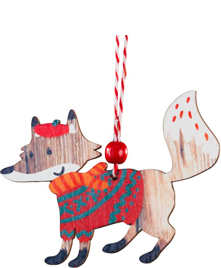 Украшение для интерьера новогоднее Erich Krause Лисенок в свитере, 11 см1093-4-В-ПУкрашения из древесины - тренд в области праздничного декора. Легкие и безопасные в использовании, на елке они смотрятся очень необычно. Оригинальный лисенок, в красном свитере и берете, раскрашен очень натуралистично. Оснащен цветной шерстяной ниткой для подвешивания.Новогодние украшения всегда несут в себе волшебство и красоту праздника. Создайте в своем доме атмосферу тепла, веселья и радости, украшая его всей семьей.