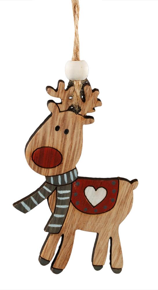 Украшение для интерьера новогоднее Erich Krause Олененок, 8,5 см38721Украшения из древесины - тренд в области праздничного декора. Легкие и безопасные в использовании, на елке они смотрятся очень необычно. Милый олененок раскрашен очень натуралистично. Попона на его спине декорирована белым сердечком. Новогодние украшения всегда несут в себе волшебство и красоту праздника. Создайте в своем доме атмосферу тепла, веселья и радости, украшая его всей семьей.