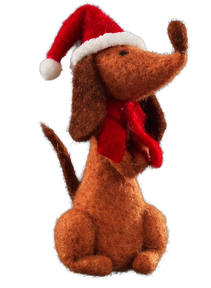 Сувенир новогодний Erich Krause Новогодний пес, 15 см ножницы erich krause ferro 15 см