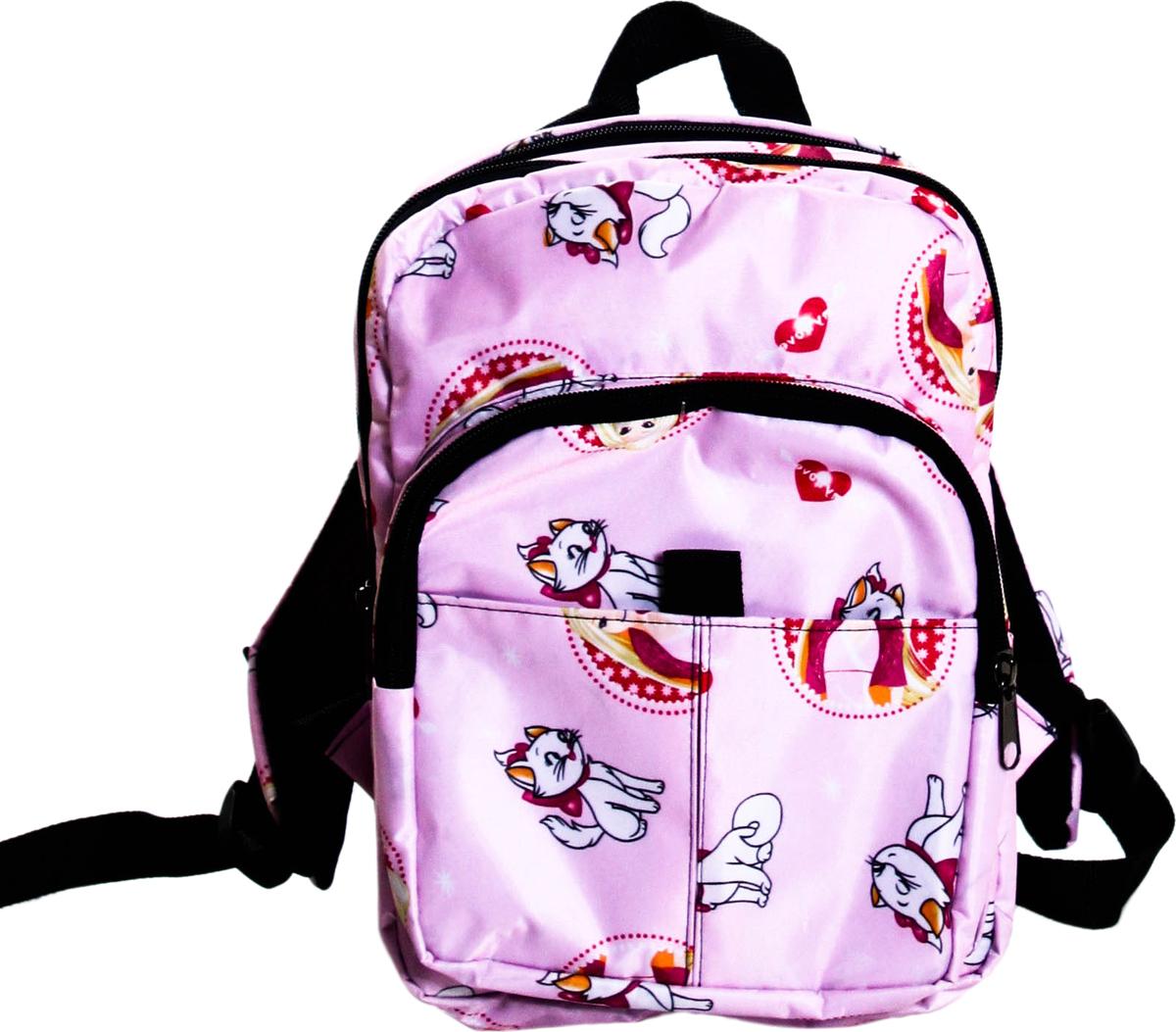 Рюкзак детский Девочка + кошка, цвет: светло-розовый, 8 л081 девочка+кошкаТекстильный рюкзак для маленьких модников и модниц! Идеален, как для повседневной носки, так и для поездок и путешествий. В свой рюкзак Ваш ребенок сможет собрать самые необходимые для него вещи : любимую игрушку, раскраску, интересную книгу или свой гаджет. Данная модель не смотря на размер очень вместительна, имеет два основных отделения и два кармана на молнии снаружи.