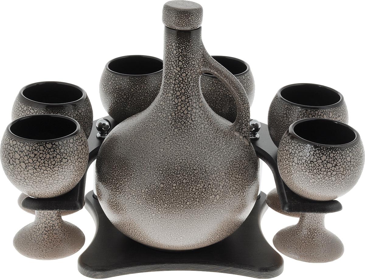 Набор для напитков Борисовская керамика Княжеский, 8 предметовМРМ14457993Набор для напитков Княжеский МРМ14457993. Материал: Керамика. Объем: