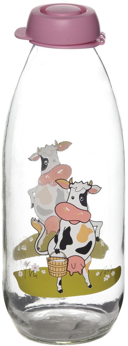 Бутыль для молока Remmy Home, цвет: розовый, прозрачный, 1 л500022Бутылка для молока Remmy Home выполнена из качественного прочного стекла.Она легка в использовании, гигиенична, проста в уходе. Емкость оснащенапластиковой крышкой. Горлышко плотно закрывается, благодаря этому внутрисохраняется герметичность, и содержимое дольше остается свежим. Внешниестенки украшены оригинальным рисунком. Диаметр горлышка: 4 см.Диаметроснования: 6,5 см.Высота емкости: 25 см.