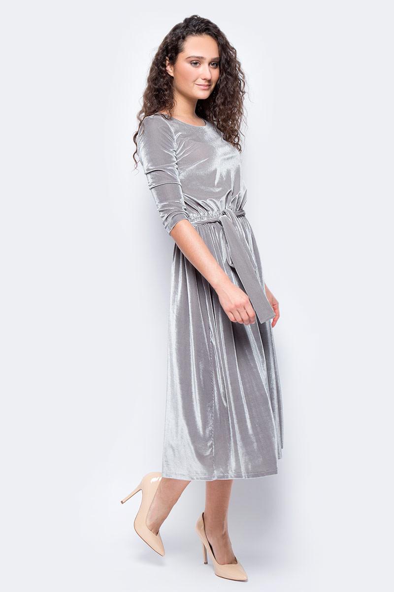 Платье женское adL, цвет: серый. 12433173000_017. Размер XS (40/42) блуза adl adl ad005ewvpi02