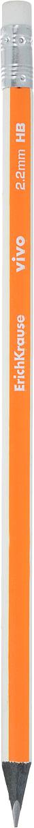 Erich Krause Карандаш чернографитный Vivo с ластиком цвет корпуса оранжевый32867_оранжевыйЯркий цвет корпуса, стильный черный цвет древесины, удобная треугольная форма – для жизнерадостных, энергичных людей. Оснащен ластиком. Прочный неломающийся грифель. Диаметр грифеля 2.2 мм, твердость HB.