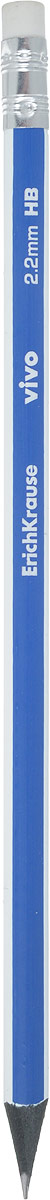 Erich Krause Карандаш чернографитный Vivo с ластиком цвет корпуса синий циркуль erich krause s cool цвет голубой