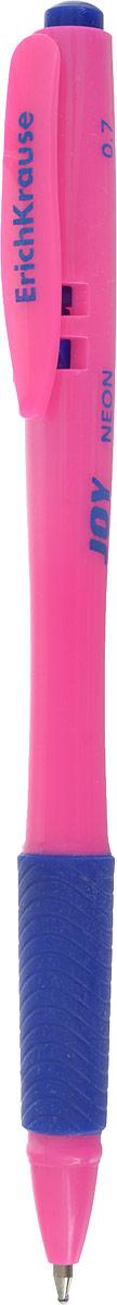 Erich Krause Ручка шариковая Ultra Glide Technology Joy Neon цвет корпуса розовый синяя erich krause ручка шариковая megapolis concept ek 31 синяя цвет корпуса синий