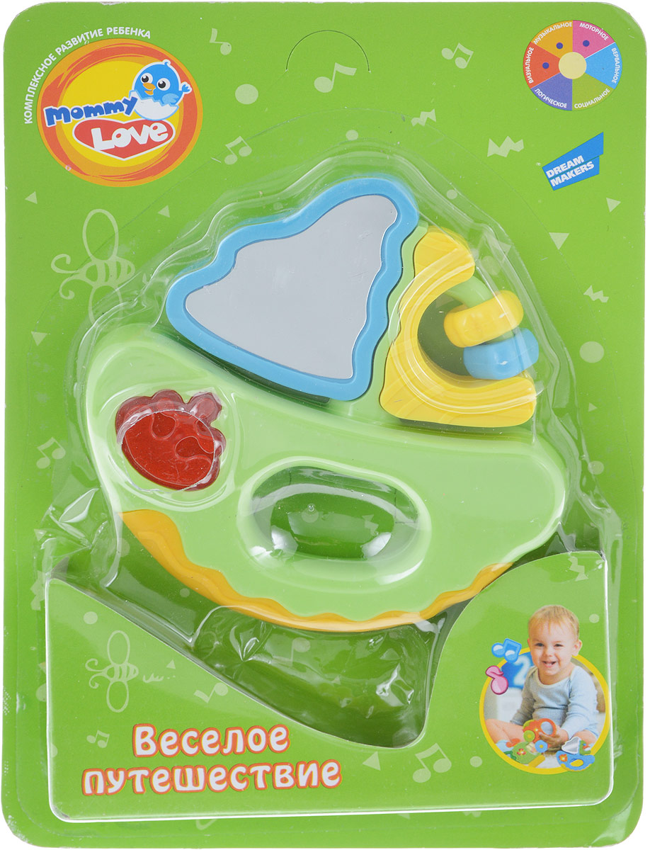 Mommy Love Развивающая игрушка Веселое путешествие Кораблик цвет зеленый голубой желтый развивающая игрушка stellar веселый молоточек цвет зеленый желтый голубой