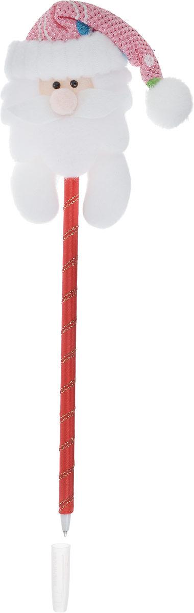Страна Карнавалия Ручка шариковая Новый Год Дедушка мороз цвет корпуса красный синяя1072651_красныйШариковая ручка Новый Год: Дедушка мороз  станет отличным презентом в новогодние праздники! Для взрослых это будет оригинальное украшение рабочего стола и приятное напоминание о человеке, который преподнёс такой сувенир. А маленьких деток привлечёт красочный дизайн - за уроки они будут браться с энтузиазмом. Наконечник в форме дедушки мороза подарит улыбки и море позитива - такой зимний атрибут просто не захочется выпускать из рук!