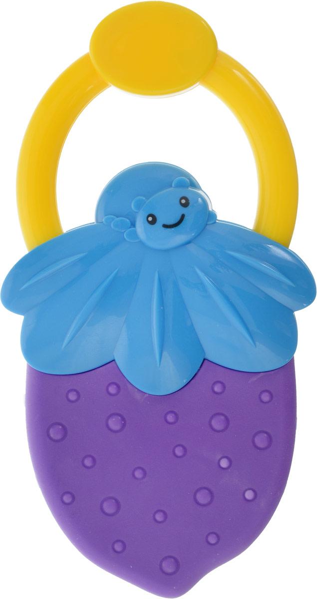 Bondibon Погремушка Ягодка цвет фиолетовый голубой bondibon копилка в технике декопатч сердечко