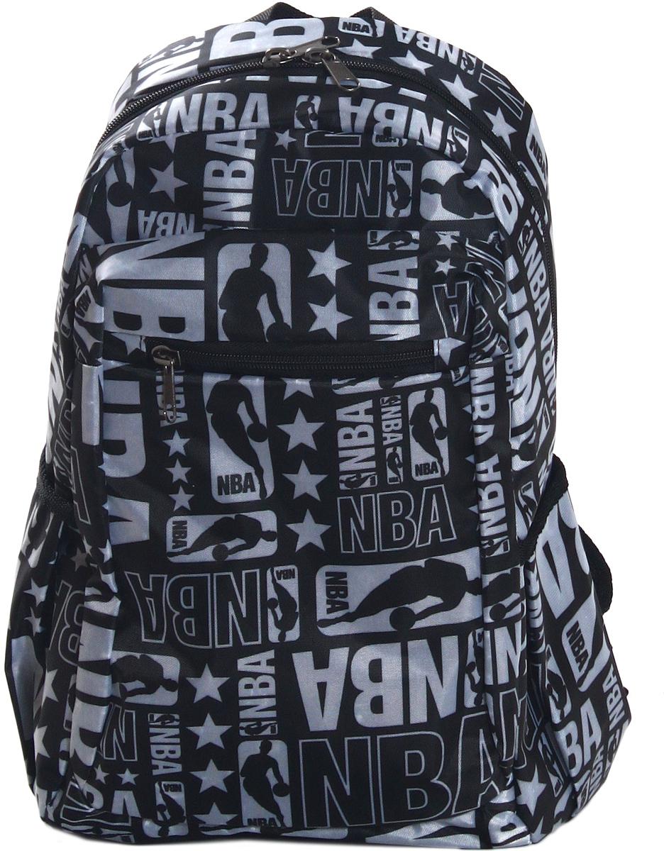 Рюкзак городской Ibag Баскетбол, цвет: черный, 18 л182 баскетболГородской рюкзак Ibag Баскетбол подойдет для повседневной жизни. Рюкзак выполнен из ткани Оксфорд и ПВХ. Имеет несколько основных отсеков, два боковых открытых кармана и передний плоский карман на молнии. Лямки и спинка мягкие.