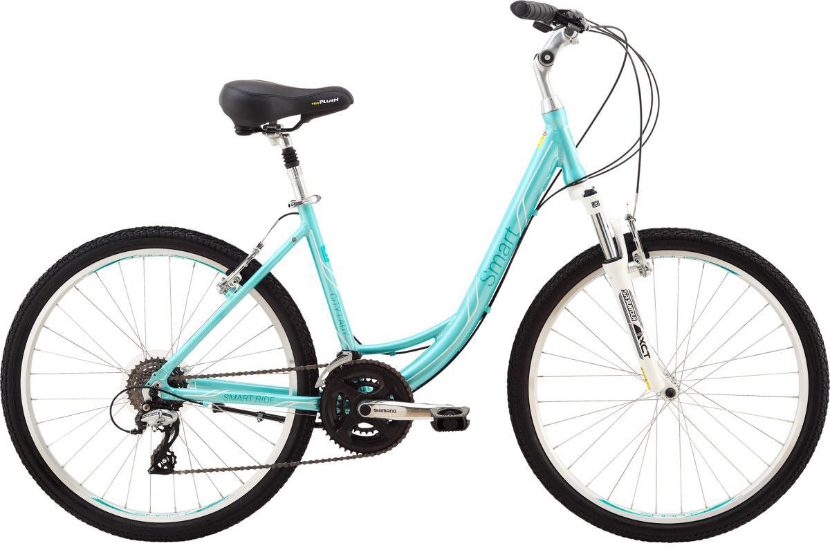Велосипед женский Smart City Lady, цвет: зеленый, рама 16, колесо 26111076