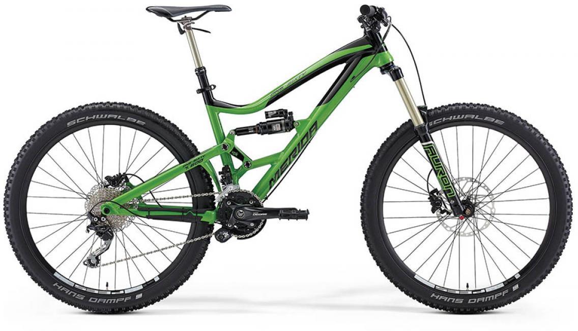 Велосипед горный Merida One-Sixty 7.600 2015, двухподвесный, цвет: зеленый, рама 18, колесо 27,5197501