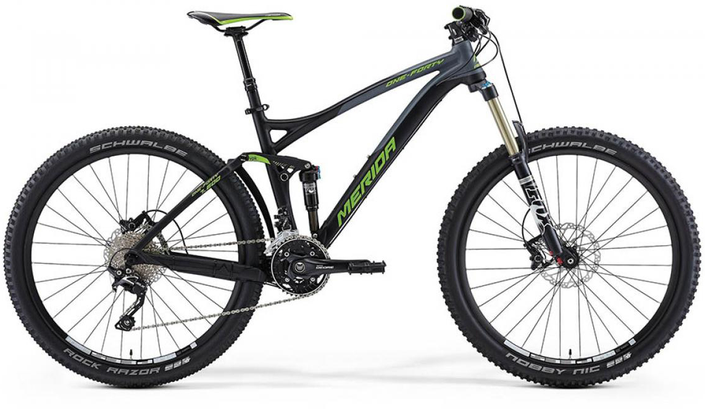 Велосипед горный Merida One-Forty 7.600 2015, двухподвесный, цвет: черный, рама 18, колесо 27,5197513
