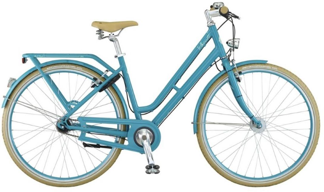 Велосипед городской Scott Sub Retro Lady 2015, цвет: голубой, рама 16, колесо 28250960