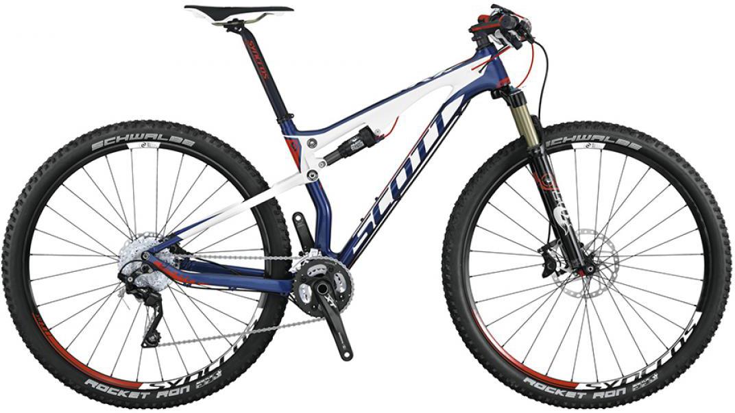 Велосипед горный Scott Spark 910 2015, двухподвесный, цвет: белый, рама 16, колесо 29253345