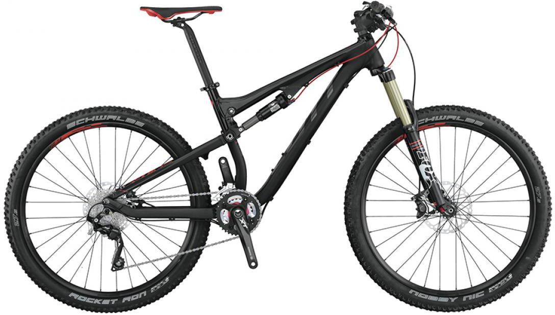 Велосипед горный Scott Genius 730 2015, двухподвесный, цвет: черный, рама 22, колесо 27,5253403