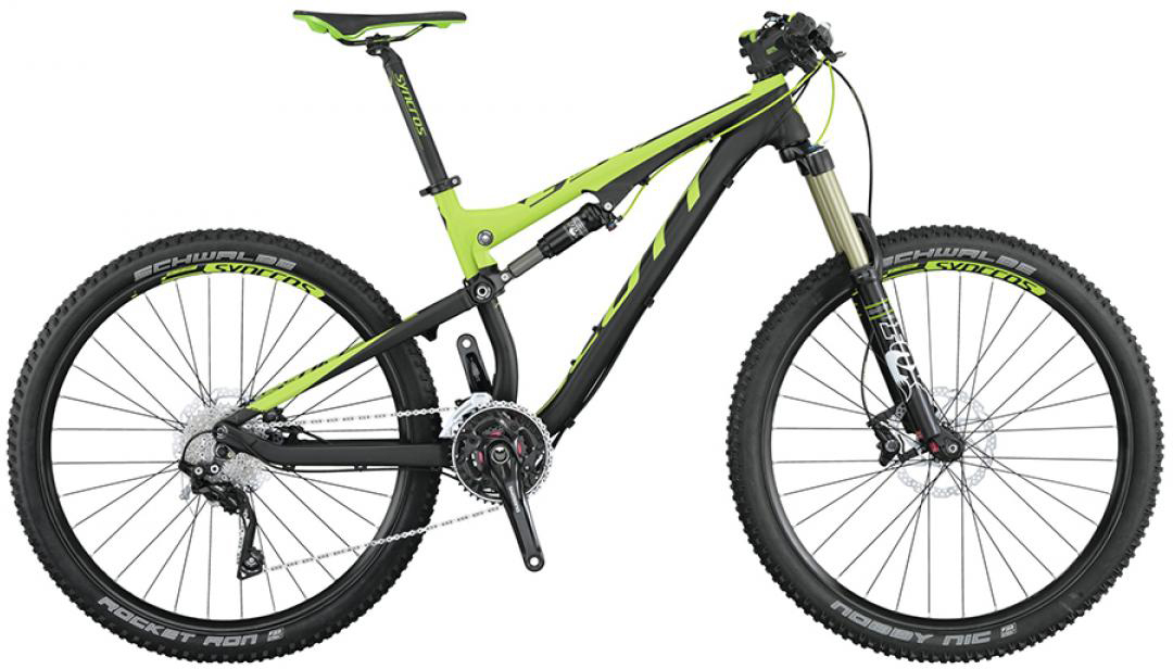 Велосипед горный Scott Genius 740 2015, двухподвесный, цвет: черный, рама 22, колесо 27,5253406